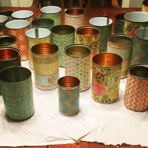 Soup Can Flower Vases!