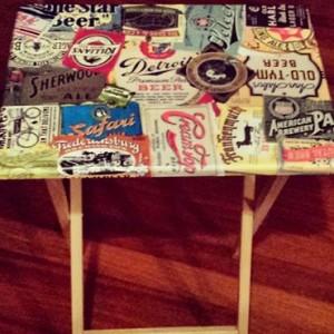 Vintage-Beer-Label-Table
